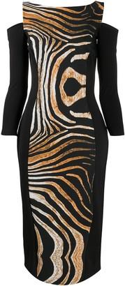 Le Petite Robe Di Chiara Boni Animal-Print Cut-Out Dress