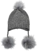 Inverni Beanie in alpaga and coyote