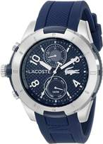 Lacoste Men's 2010761 Tonga Silver-Tone Watch with Silicone Band