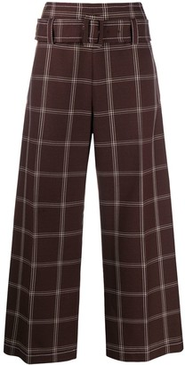 Marni High-Waisted Check Trousers