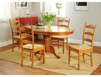 Esperanza August Grove 5 Piece Solid Wood Dining Set August Grove Finish: Oak