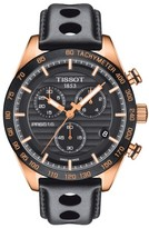 Tissot Men's Prs 516 Chronograph Leather Strap Watch, 42Mm