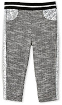 Baby Sara Newborn/Infant Girls) Sequin Trim Leggings