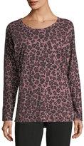 Allen Allen Leopard-Print Dolman-Sleeve Top