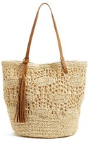 Nordstrom Crochet Straw Tote - Brown