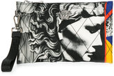 Versus quilted clutch bag with print