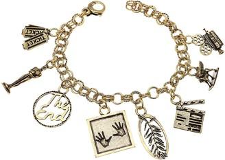 Alcozer & J Cinema Golden Brass Bracelet w/Charms