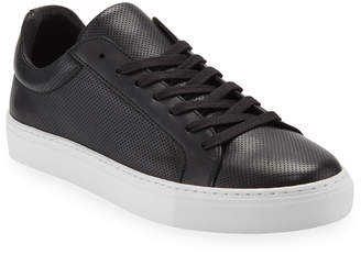 Supply Lab Damian Perforated Leather Skate Sneakers