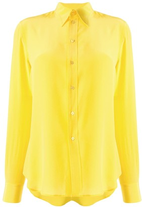 Ralph Lauren Silk Pointed Collar Shirt