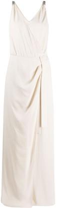 Brunello Cucinelli Wrap-Front Silk Jumpsuit