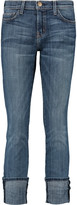 Current/Elliott The Beatnik patchwork mid-rise skinny jeans