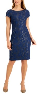 Adrianna Papell Cap-Sleeve Sheath Dress