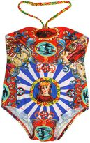 Dolce & Gabbana Carretto Printed Lycra Swimsuit