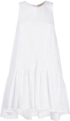 Blanca Vita Sleeveless Ruched Mini Dress