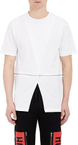 Hood by Air MEN'S CROSSOVER-FRONT T-SHIRT-WHITE SIZE L
