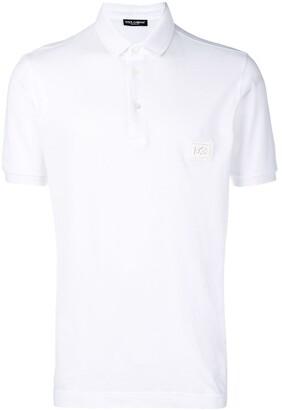 Dolce & Gabbana logo patch polo top