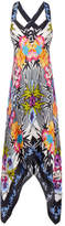 Nicole Miller Bamboo Printed Silk Maxi Dress