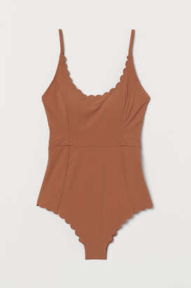 H&M Scallop-edged swimsuit