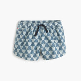 J.Crew Girls' pull-on short in chambray hearts