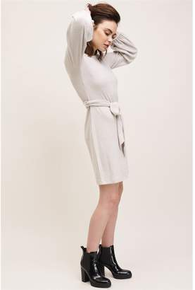 Dynamite Soft Bubble Sleeve Dress - Final Sale Moonlight Beige