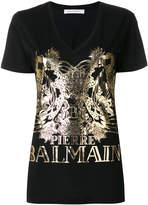 Pierre Balmain V-neck logo T-shirt