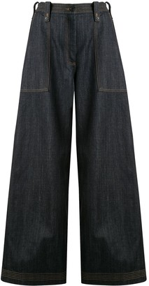 Ports 1961 High-Waisted Wide-Leg Trousers