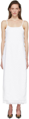 Marine Serre White Maxi Towel Dress