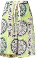 J.W.Anderson venetian print linen shorts
