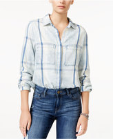 William Rast Plaid Denim Shirt