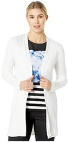 Calvin Klein Strecth Cable Cardigan (Soft White) Women's Sweater