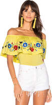 VAVA by Joy Han Sofia Bodysuit in Yellow