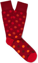 Paul Smith - Polka-dot Mercerised Stretch Cotton-blend Socks
