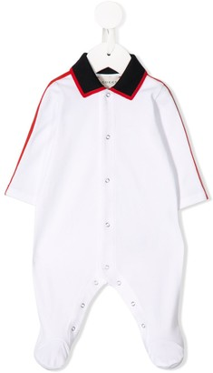 Gucci Kids Striped Trim Pajamas