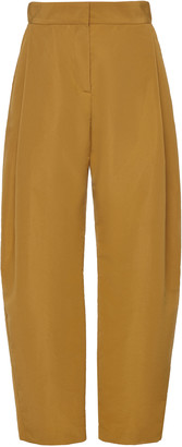 Martin Grant High-Rise Taffeta Wide-Leg Pants