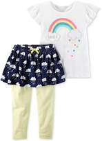 Carter's 2-Pc. Graphic-Print Top & Tutu Leggings Set, Baby Girls