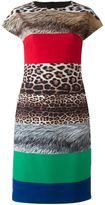 Moschino fur effect shift dress - women - Polyester/other fibers - 42