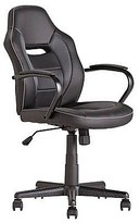 Fashion World Mid Back Office Gaming Chair - Black.