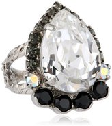 """Sorrelli Crystal Rock"""" Petite Pear Ring"""