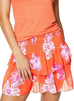 Ramy Brook Floral-Print Shirred Skirt