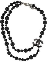 Chanel CC Beaded Double Strand Necklace