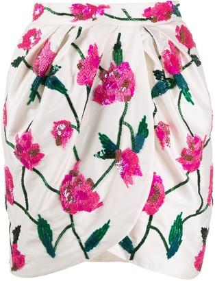 Giuseppe di Morabito Beaded Floral-Pattern Skirt