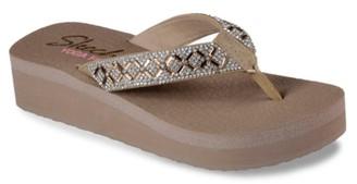 Skechers Cali Vinyasa Lotus Princess Wedge Flip Flop