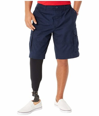 Tommy Hilfiger Men's Adaptive Cargo Shorts with Adjustable Waist and Velcro Magnet Fly