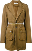 Givenchy longline military blazer - women - Cotton - 36