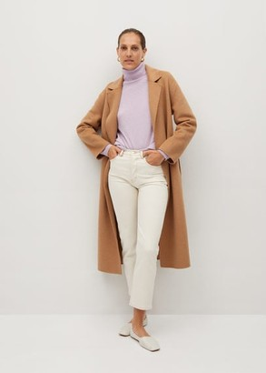 MANGO Turtleneck cashmere sweater light/pastel purple - S - Women