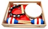 Schoenhut Piano Band-in-A-Box ,Maracas, Triangle, Bells, Tambourine