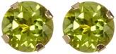 Candela 10K Yellow Gold 5mm Peridot Stud Earrings