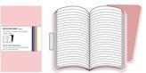 Moleskine pocket ruled volant pink (set of 2)