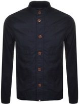 Pretty Green Button Up Jacket Navy