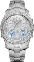 JBW Men's Jet Setter Iii Diamond 46mm Steel Bracelet Swiss Quartz Watch J6348b